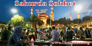 Sahurda Sohbet